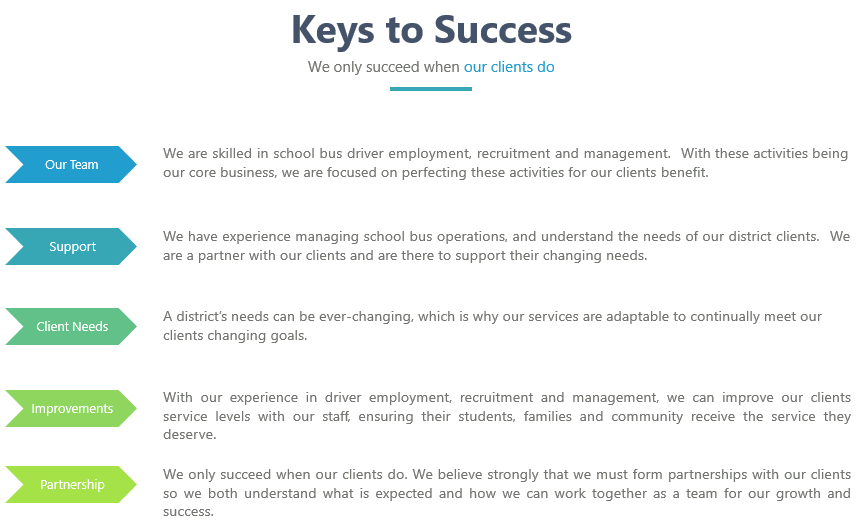 Keys to our success