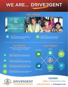 Drivergent Mission Vision Values Flyer