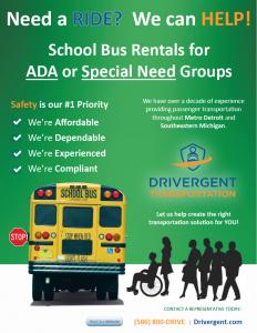 School Bus Rental - ADA Flyer