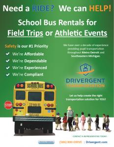 School Bus Rental - Field Trip Flyer