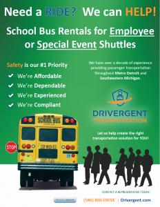 School Bus Rental - Shuttle Flyer