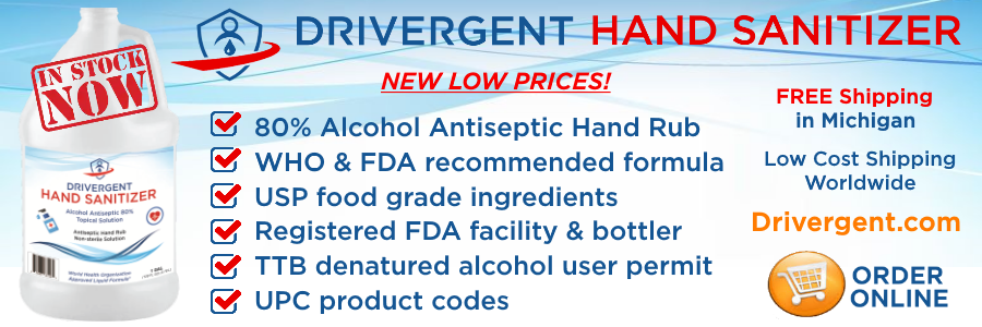 Drivergent Hand Sanitizer Banner