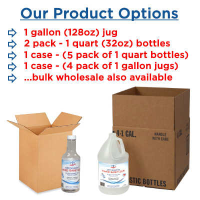 Drivergent Hand Sanitizer Product Options