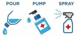 Drivergent Liquid Hand Sanitizer Dispensing Options