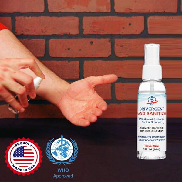 Drivergent Hand Sanitizer Spray Demonstration